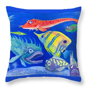 Aquarium 1 Throw Pillow