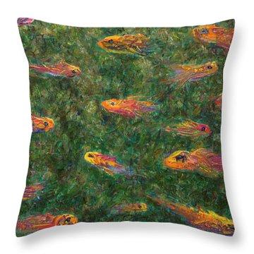 Aquarium Throw Pillow by James W Johnson