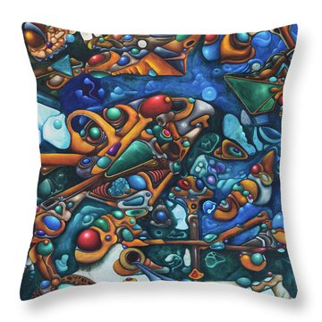 Aquariumalgam Throw Pillow by Devin Cogger