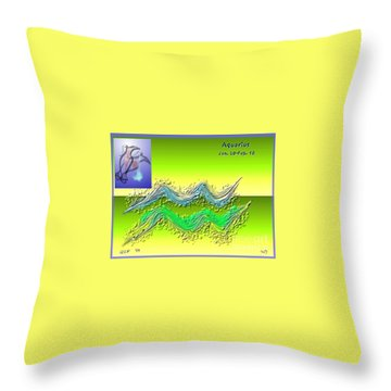 Throw Pillow featuring the digital art Aquarius By Alice Terrill And Will Baumol by The Art of Alice Terrill