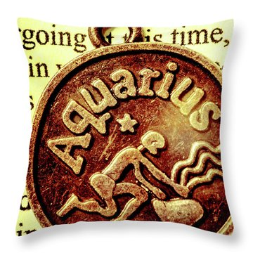 Aquarius Zodiac Sign Throw Pillow by Jorgo Photography - Wall Art Gallery