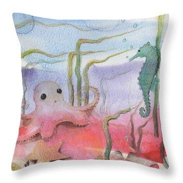 Aquatic Bliss Throw Pillow