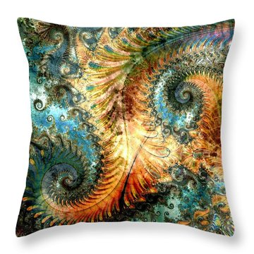 Aquatica Throw Pillow by Kim Redd