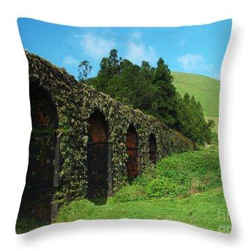 Aqueduct Throw Pillow by Gaspar Avila
