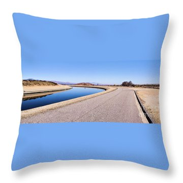 Aqueduct Sharp Turn Throw Pillow