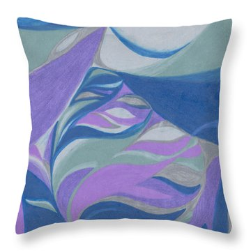 Throw Pillow featuring the drawing Aqueous by Kim Sy Ok