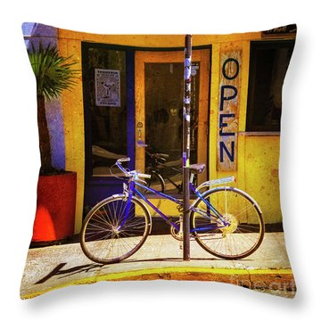 Throw Pillow featuring the photograph Aqueria Bicycle by Craig J Satterlee