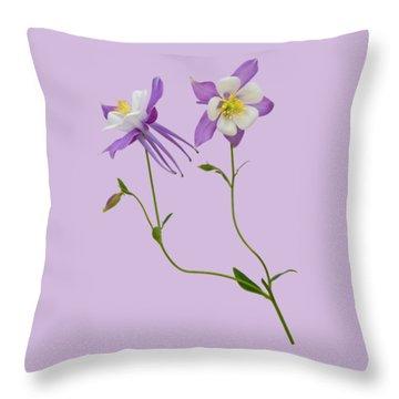 Aquilegia Specimen Throw Pillow