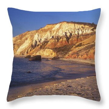 Aquinnah Gay Head Cliffs Throw Pillow