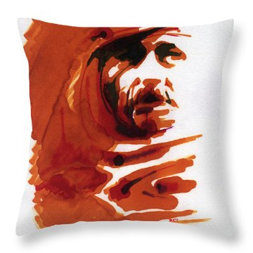 Arab Face Throw Pillow
