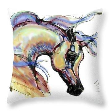 Arabian Mare Throw Pillow