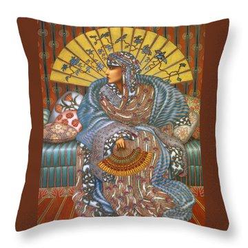 Arabella Throw Pillow by Jane Whiting Chrzanoska