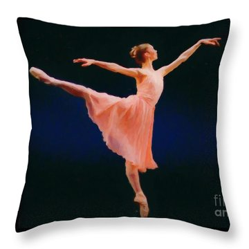 Throw Pillow featuring the painting Arabesque by Rosario Piazza