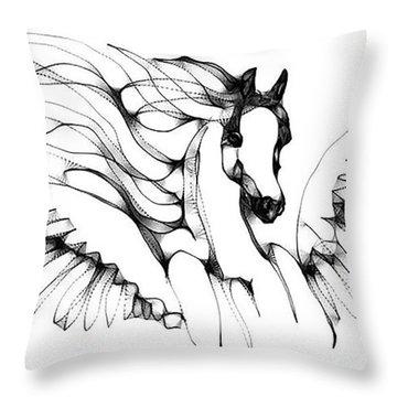Arabian Angel Throw Pillow