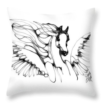 Arabian Angel Throw Pillow