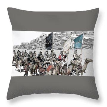 Arabian Cavalry Throw Pillow by Kurt Ramschissel