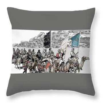 Arabian Cavalry Throw Pillow