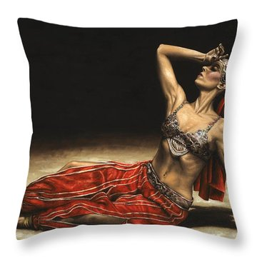 Arabian Coffee Awakes Throw Pillow by Richard Young