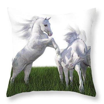 Arabian Fields Throw Pillow