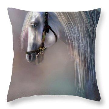 Arabian Grey Throw Pillow
