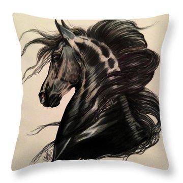 Arabian Grey On A Stormy Night Throw Pillow