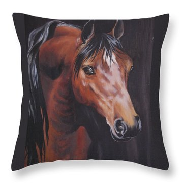 Arabian Horse 1 Throw Pillow