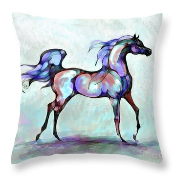 Arabian Horse Overlook Throw Pillow