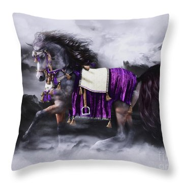 Arabian Horse  Shaitan Throw Pillow