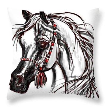 My Arabian Horse Throw Pillow