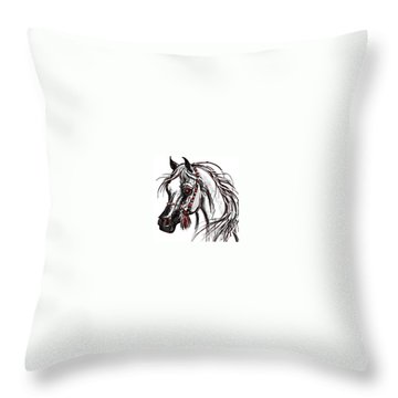 My Arabian Horse Throw Pillow