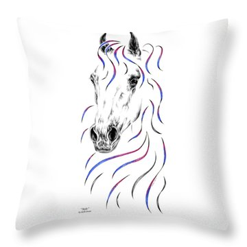 Arabian Horse Style Throw Pillow