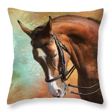 Arabian Horse Throw Pillow by Theresa Tahara