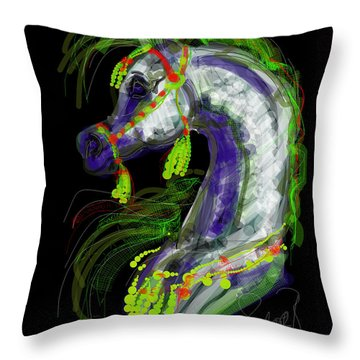 Arabian With Green Tassles Throw Pillow