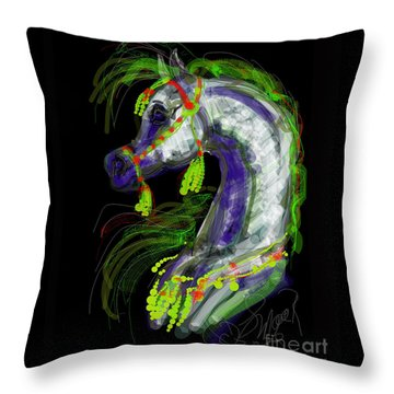 Arabian With Green Tassles Throw Pillow
