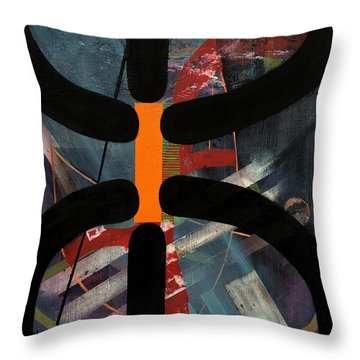 Arachnophobia Throw Pillow by Antonio Ortiz