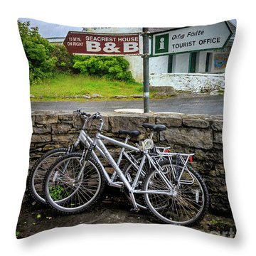 Throw Pillow featuring the photograph Aran Island Bicycles by Craig J Satterlee