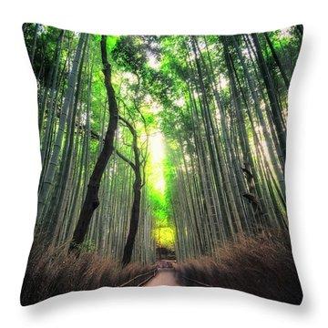 Arashiyama In Kyoto, Japan Throw Pillow