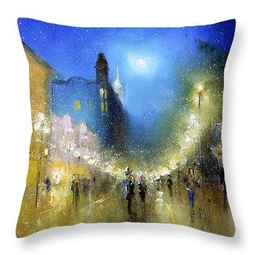 Arbat Night Lights Throw Pillow