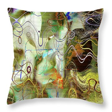 Arbitrary Color Opticality Throw Pillow