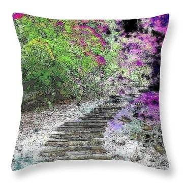 Arbor Pathway Throw Pillow by Tim Allen