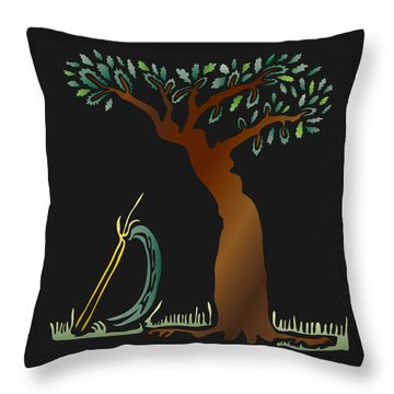 Arbor Scene Throw Pillow by Kevin McLaughlin