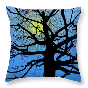 Arboreal Sun Throw Pillow by Tim Allen