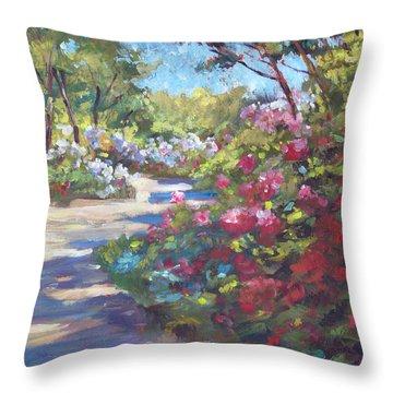 Arboretum Garden Path Throw Pillow