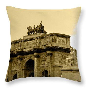 Arc De Triomphe Du Carrousel  Throw Pillow