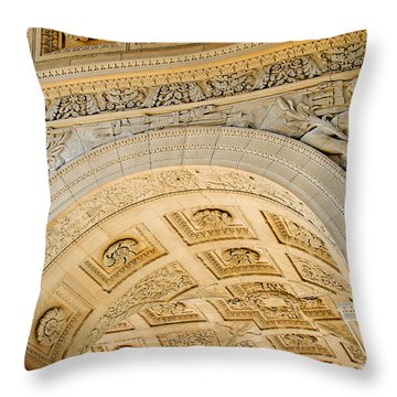 Arc De Triomphe Du Carrousel Wide Format Throw Pillow