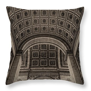 Arc De Triomphe Interior Throw Pillow