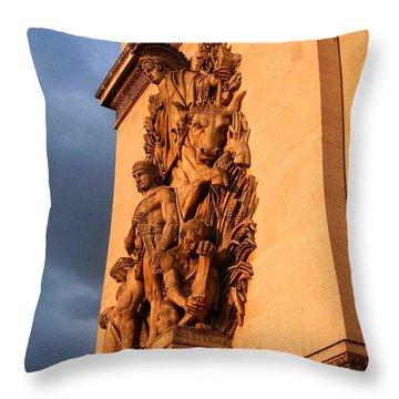 Arc De Triomphe Throw Pillow by Juergen Weiss