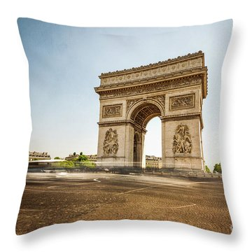 Throw Pillow featuring the photograph Arc De Triumph by Hannes Cmarits