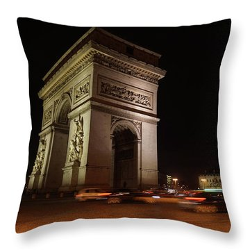 Arc Du Triomphe Paris Throw Pillow by Erik Tanghe