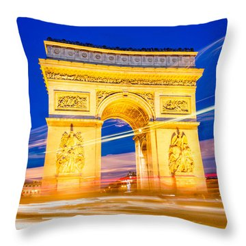 Arc Exposure Throw Pillow